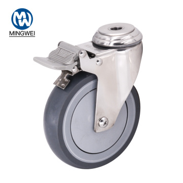 5 Inch Bolt Hole Caster with Brake