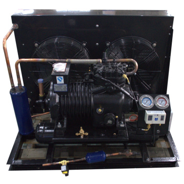 Semi-enclosed Two Fans Air Cooled Condenser Unit