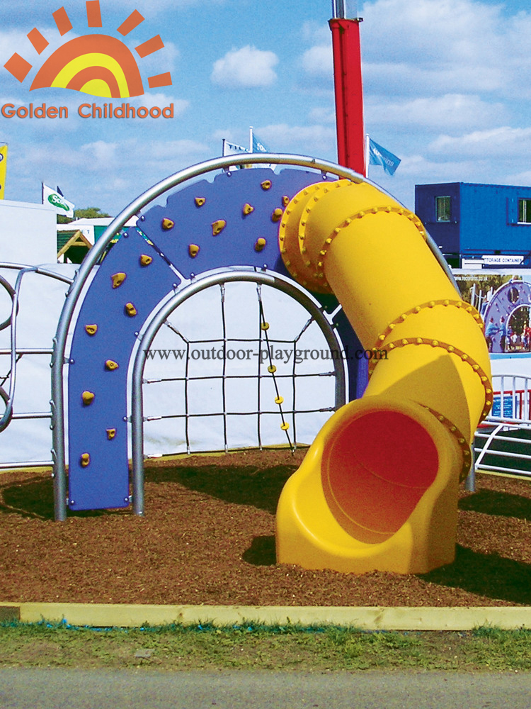 Playground System With Tube Slide