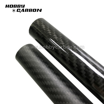 Custom 3K glossy twill finish Carbon fiber tube
