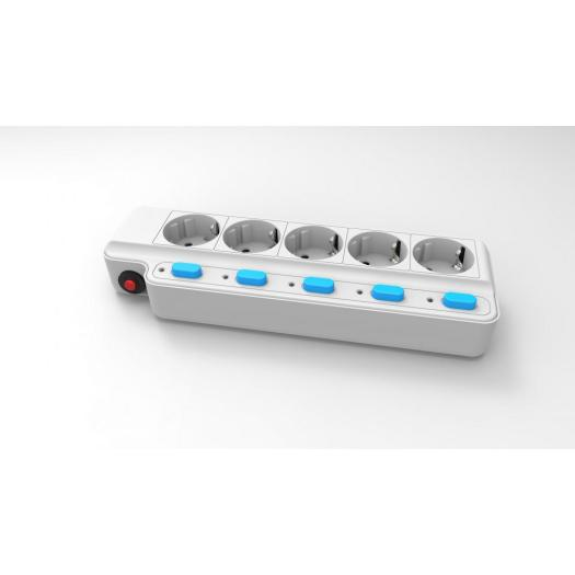 Korea KCC 5 ways individual switches extension socket