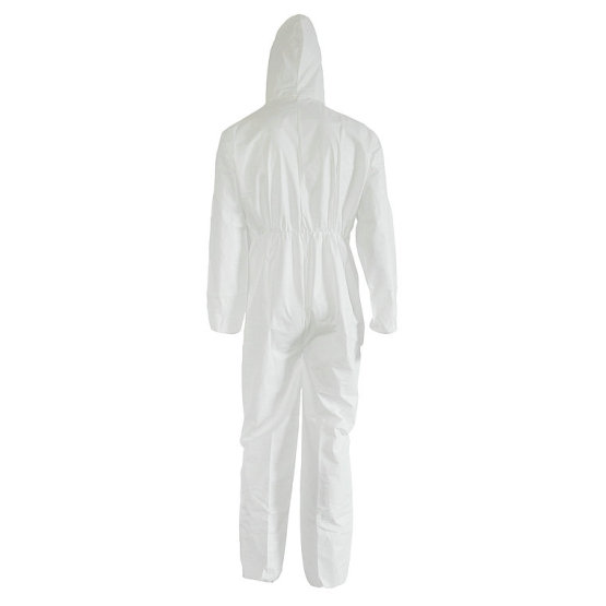 Waterproof White Disposable Labor Coverall
