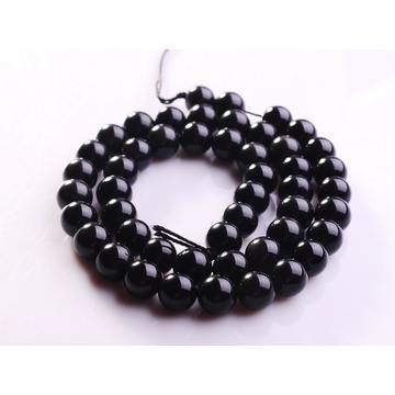 8MM Natural Black Obsidian Round Gemstone Beads 16