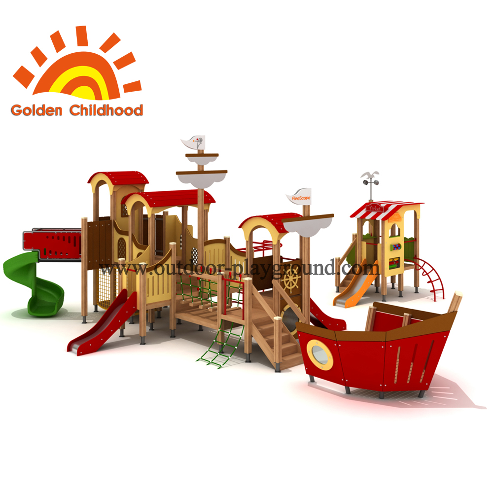 Combination Ship Mixed Outdoor Playground Equipment