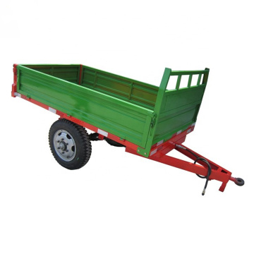 Tractor transporter hydraulic dump tipping farm trailer