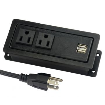 US Dual Power Outlets With USB Ports&Cap