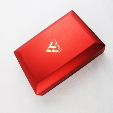 Red Plastic Jewelry Set Box with LED Light