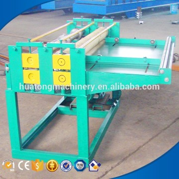 Sheet metal leveling and slitting machine
