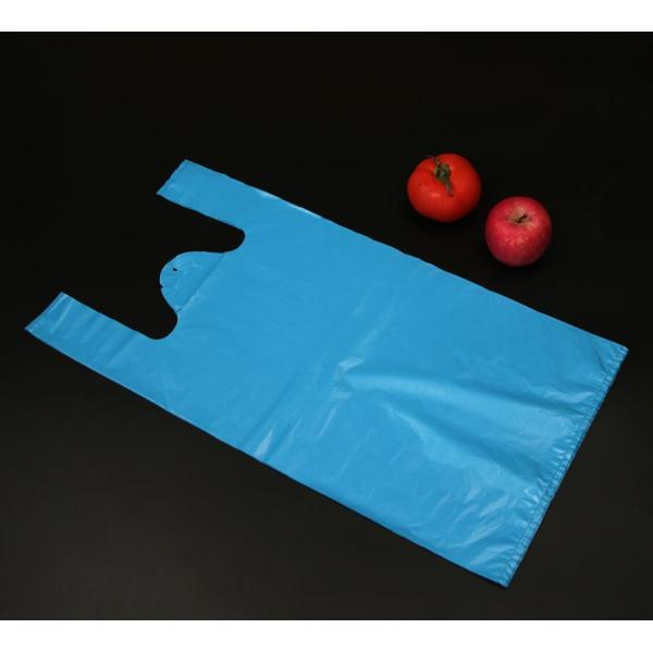 Blue Color T-Shirt Bag for Shopping