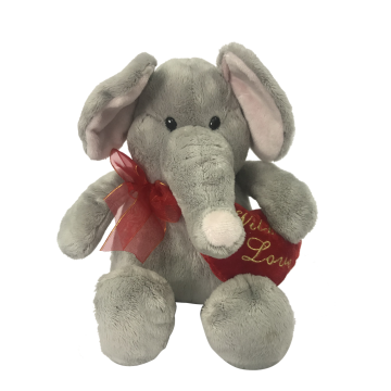 Plush Elephant Happy Valentine