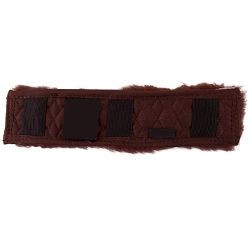 Horse sheepskin girth sleeve cover