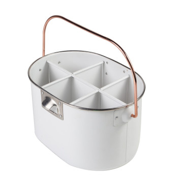 White utensil holder caddy