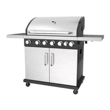 Six Burner Gas Barbecue Grill With Side Burner