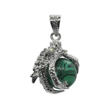 New Products 2016 Charm Jewelry Malachite Sphere Dragon Ball Claw Pendant