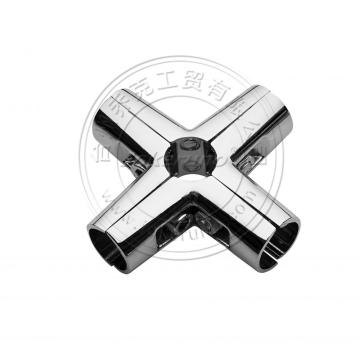 6 way chrome tube shop fittings