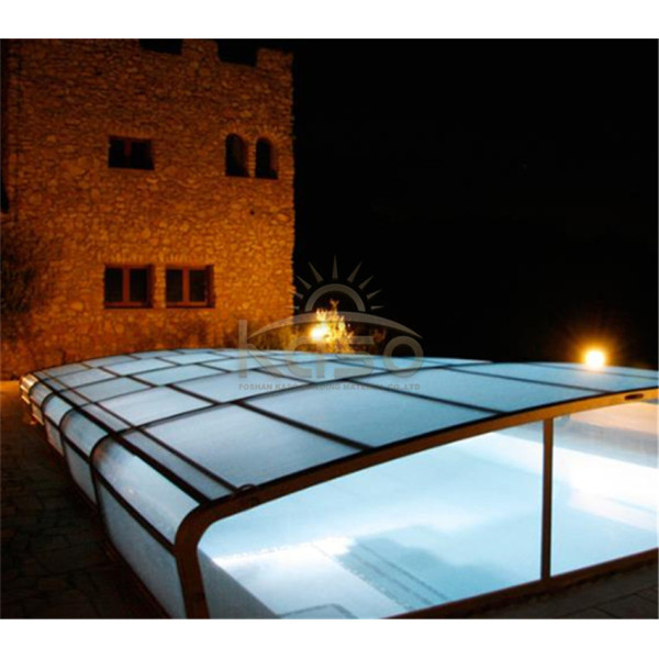 Economical Aluminum Swimming Pool With Retractable Roof