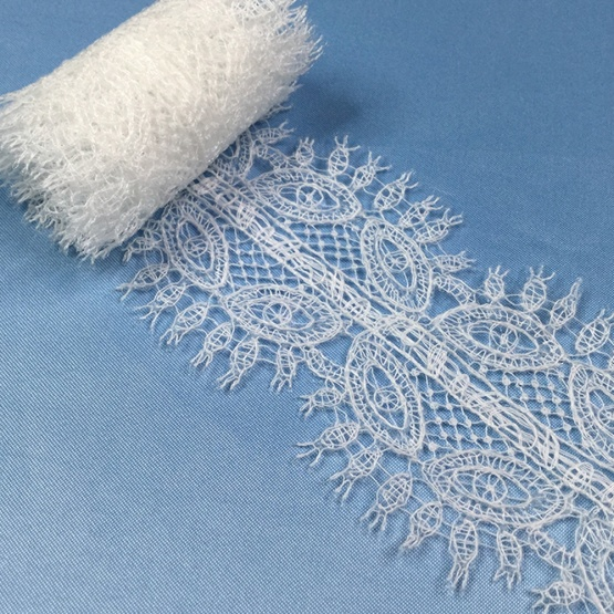 Bridal Embroidered Net Lace Trim