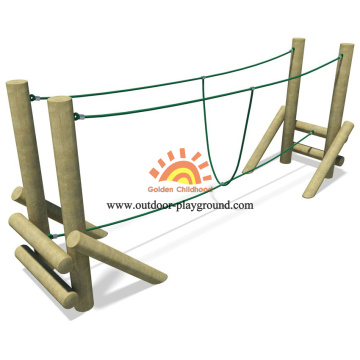 Kids Outdoor Wooden Playground Recreational Equipment
