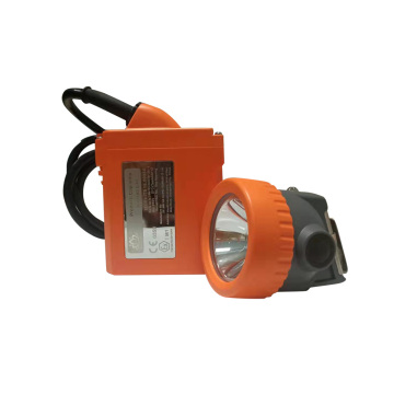 Rechargeable miners hat light orange color