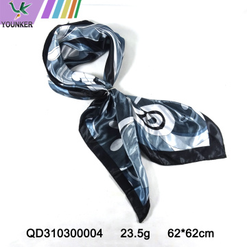 ABSTRACT PRINTING SATIIN SCARF