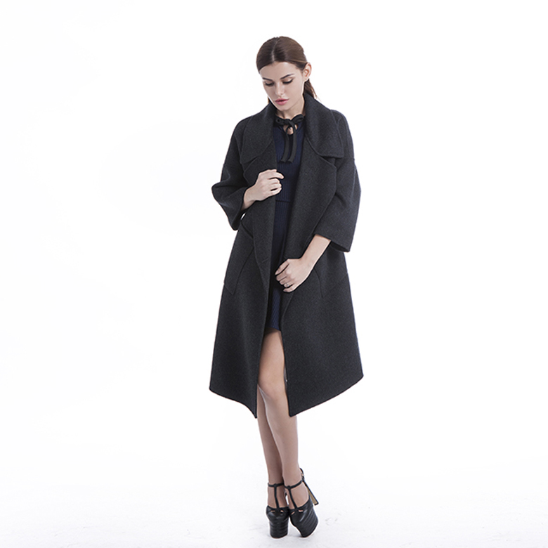 Fashion long cardigan cashmere coat