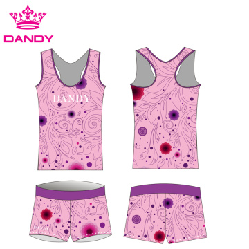 sublimated flowers printing women cheer practice wear