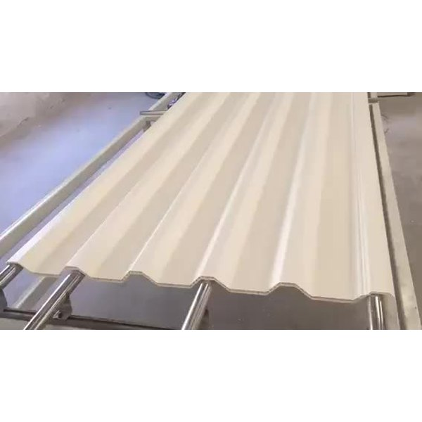 Heat Insulation fireproof plastic PVC hollow roof sheet