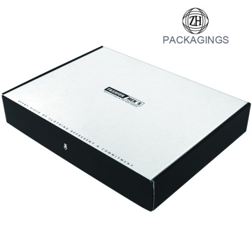 Retail white mailing box package for shirt