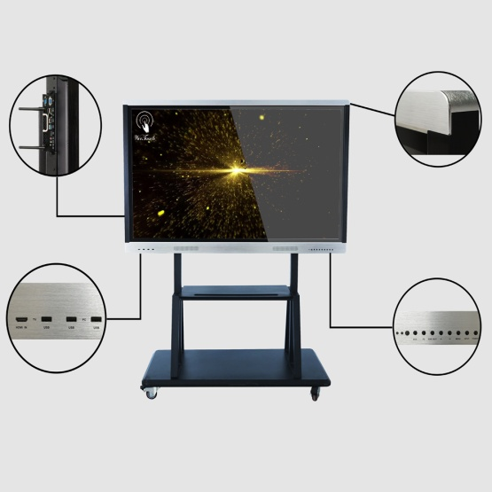 70 inches touch panel with mobile stand