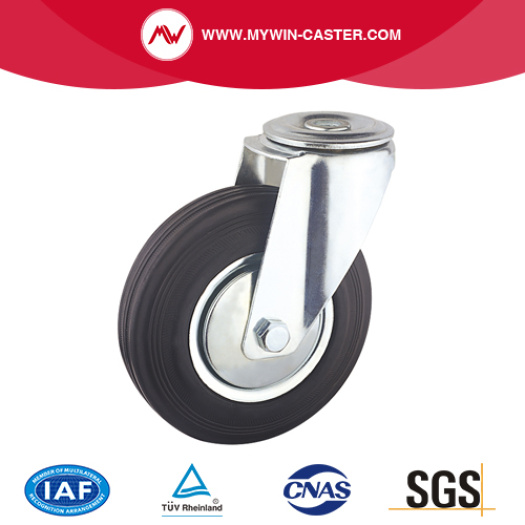 Bolt Hole Swivel Rubber Industrial Caster