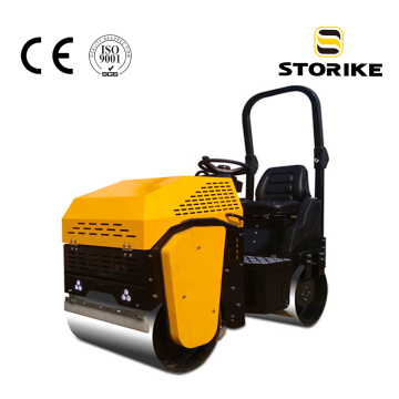 CE certified hydraulic steering double drum car roller