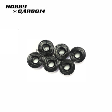 Black M3 Aluminum Nuts For Carbon Frames