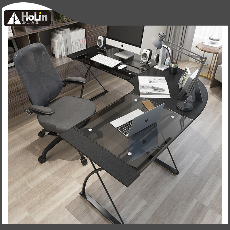L Shaped Desk Home Office Desk Corner Computer Desk Sturdy Computer Table Writing Desk Gaming Desk Workstation Black