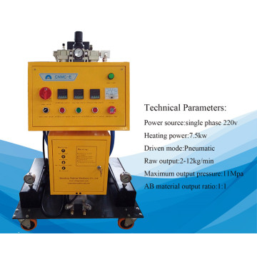 Closed cell waterproofing polyurethane spray foam machine