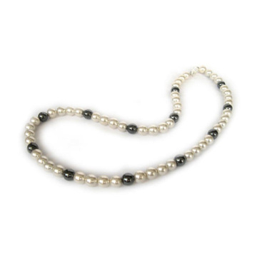 Hematite Pearl Necklace