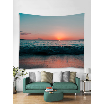 Tapestry Wall Hanging Ocean Sea Wave Beach Series Tapestry Sunrise Sunset Dusk Tapestry for Bedroom Home Dorm Decor