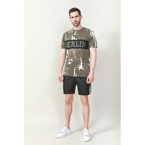 MEN'S COTTON POLY PRINTED T-SHIRT
