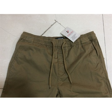 men's long pant with elastic on wasit and bottom