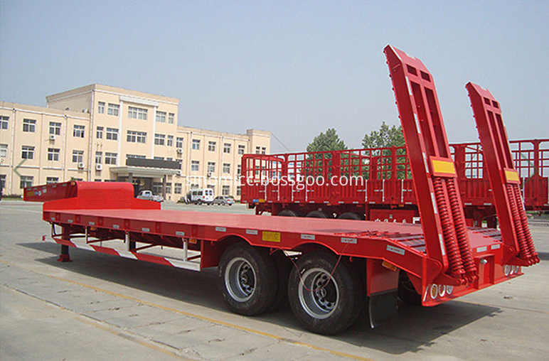 2 Axles Lowbed Trailer