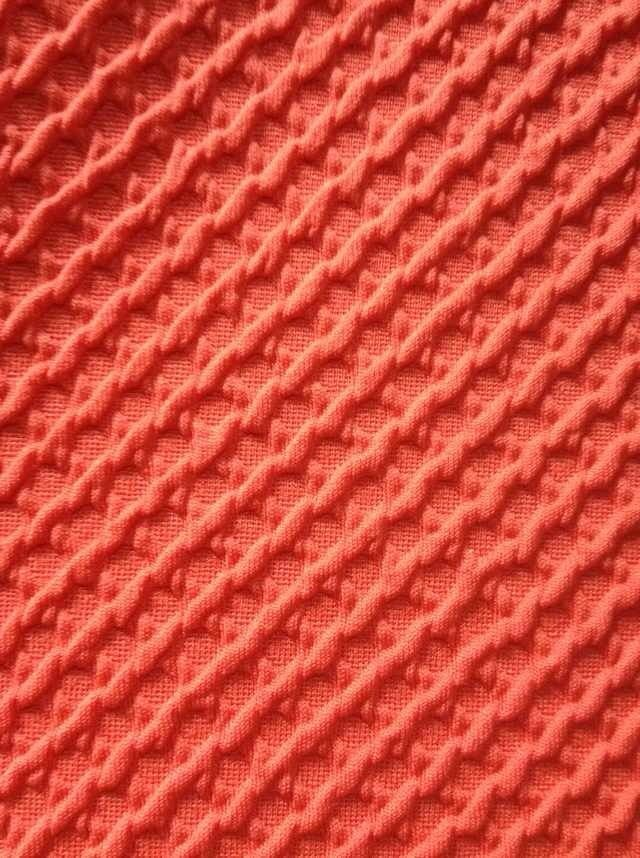 thick air layer jacquard knit fabric