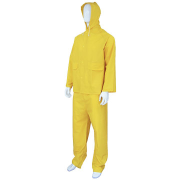 Heavy Duty Yellow Working PVC Rain Coat Suit