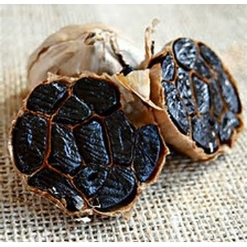 Good food of whole black garlic