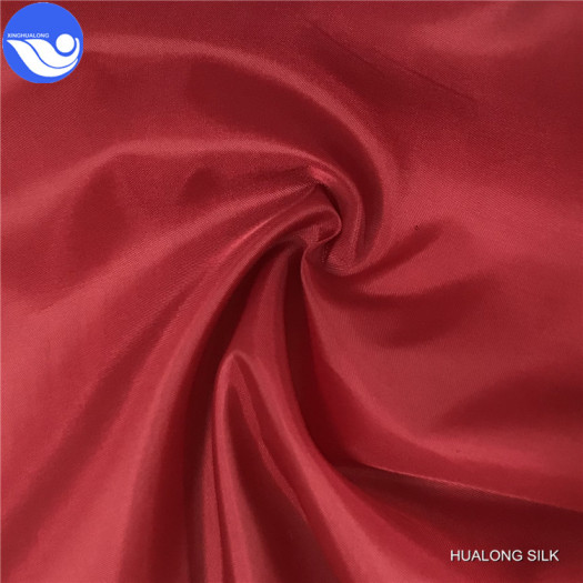 100% Polyester Taffeta Lining Fabric With Coating