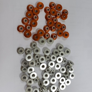 M5 gold aluminum flange serrated nuts for props