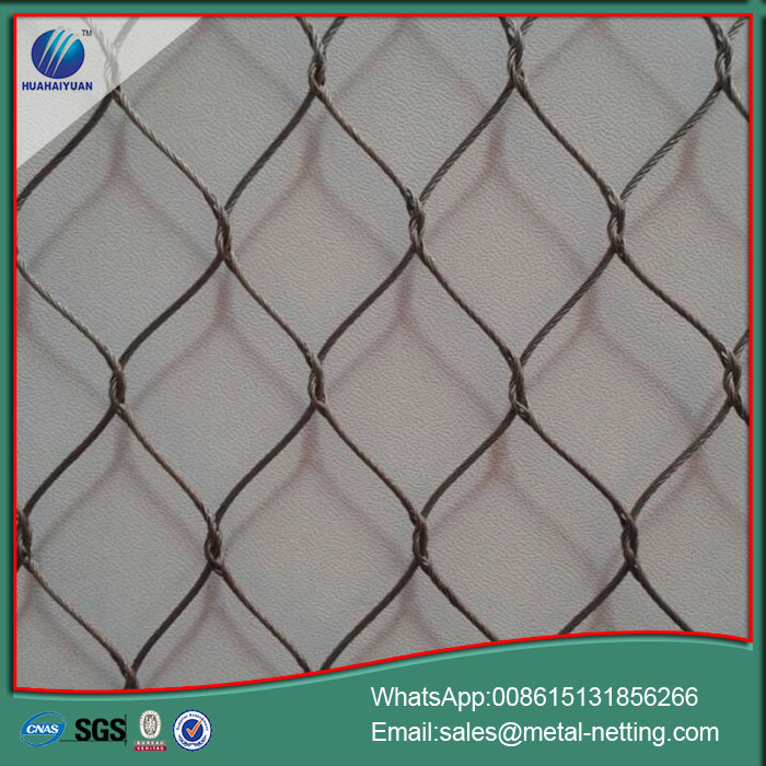 safety rope netting decorative wire rope mesh