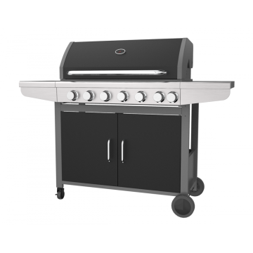 Six Burner With Side Burner Gas Barbecue Grill