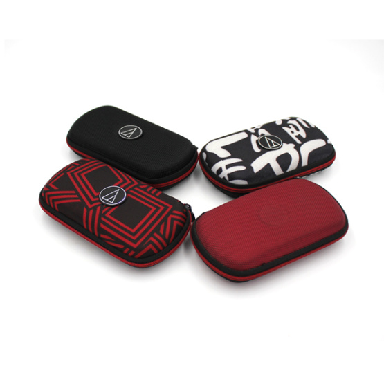 Custom durable dustproof eva nylon earphone case with printing