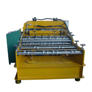 Automatic crimp roof panel curving machine