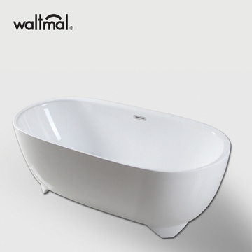 Non Flat Bottom Ellipse Freestanding Bathtub
