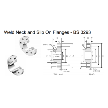Weld Neck and Slip On Flanges BS 3293